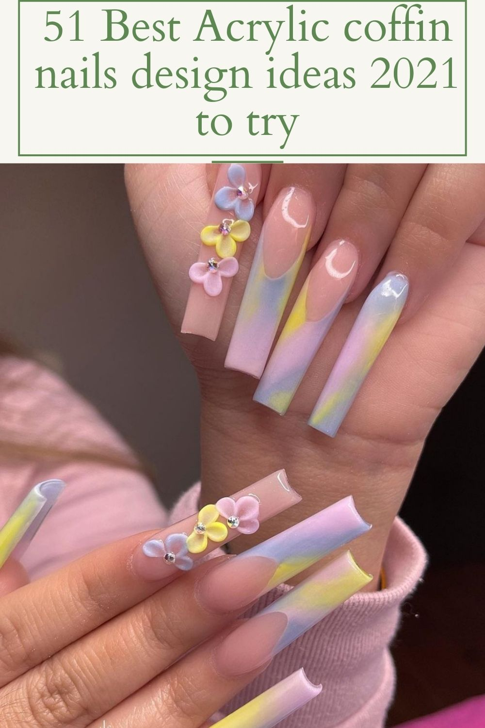 51 Best acrylic coffin nails design for Summer to try!