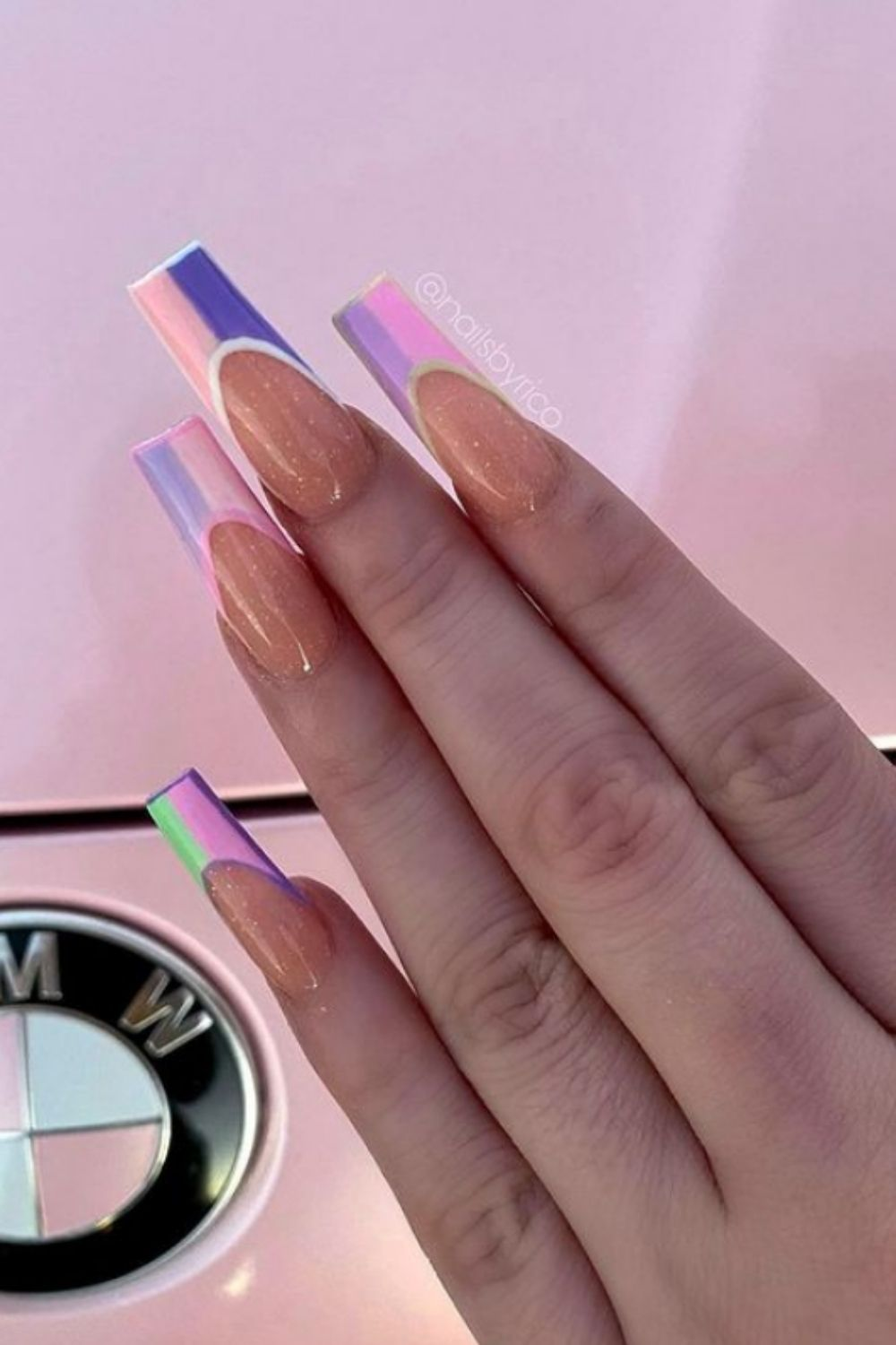 40+ Popular French Coffin Nails Must Try 2021!