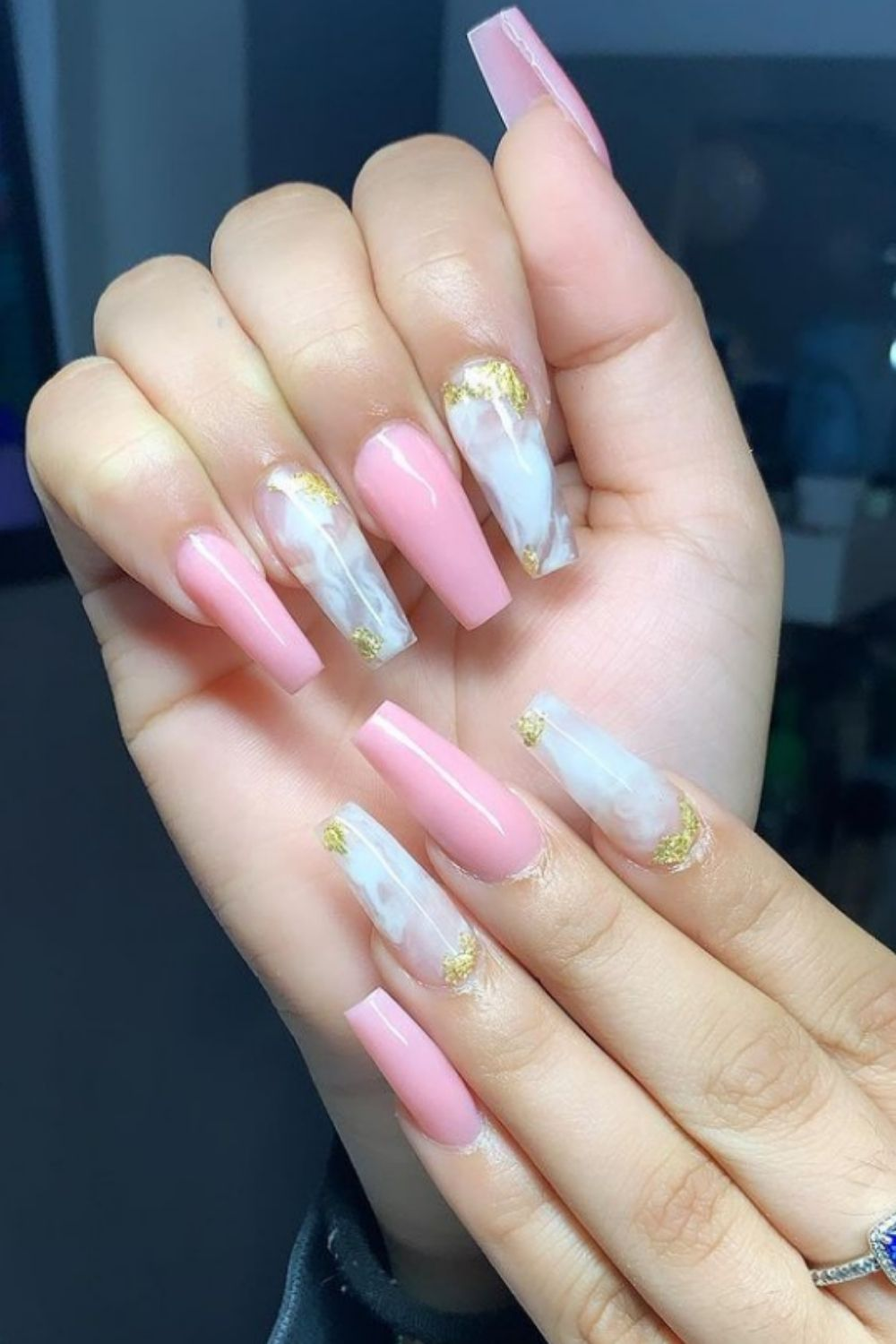 40+ Sweet Pink Coffin Nail Designs to Inspire You This Summer
