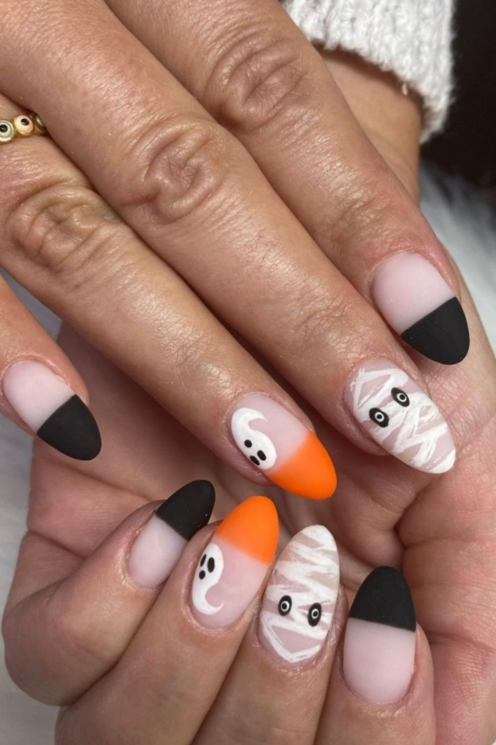 40 Amazing Halloween Nail Designs Ideas with fall nails art